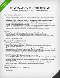 professional janitor resume sample   resume geniuscombination janitor resume sample
