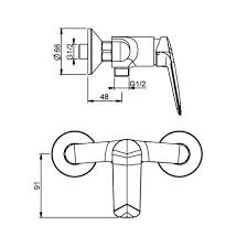 Купить <b>смеситель для душа M&Z</b> Laguna LGA00800 хром в ...