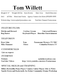 acting resume template no experience  seangarrette coacting