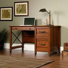 amazoncom sauder carson forge desk washington cherry finish kitchen dining home office furniture cherry finished