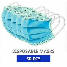 <b>50 PCS</b> FACE <b>Mask Medical</b> Surgical Dental <b>Disposable</b> 3-Ply ...