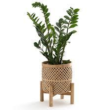 <b>Кашпо</b> на ножке из бамбука в35 см bambu натуральный <b>La</b> ...
