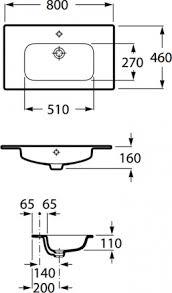 <b>Раковина</b>-столешница <b>Roca Victoria</b>-N 32799C000, 80,5 x 45 см ...