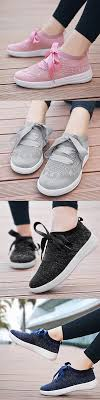Women <b>Fly Woven Fabric</b> Sneakers Casual Comfort Slip On Shoes ...