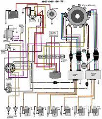 mastertech marine evinrude johnson outboard wiring diagrams v 6 motors 150 175 hp 1987 88
