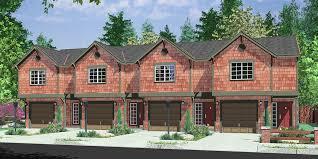 Plex House Plans  Multiplexes  QuadPlex PlansD  Multifamily house plans  reverse living house plans  D