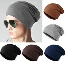 FAITOLAGI <b>Men Women</b> Fashion Knitted Hats <b>Solid</b> Color Soft ...