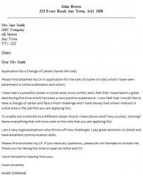 Enticing Cover Letter Explaining Career Change Position and Cover