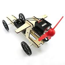Universal Henoesty <b>Mini Wind Powered Toy</b> DIY Car Kit Children ...