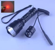 UltraFire <b>C8</b> Cree XP-E2 Red Light <b>LED</b> 1 Mode <b>Hunting Flashlight</b> ...