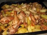 Вкусная запеченная картошка с курицей