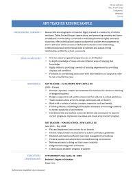 art teacher resume samples  templates and tips   onlineresumeart teacher resume