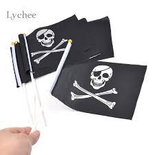 <b>Lychee 5 Pieces</b>/Lot Skull and Cross Crossbones Jolly Roger ...