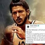 Actor Farhan Akhtar highlights 'glaring error' in a Bengali school textbook, leaves Twitterati shocked