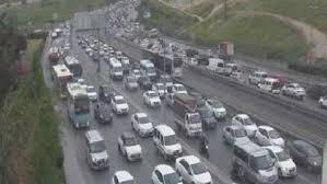 İstanbul'da yoğun trafik