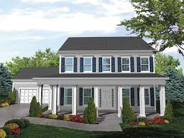 Judy Jane Colonial Home Plan D    House Plans and MoreSouthern Colonial Two Story House Has Deep Covered Porch For Relaxing