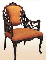 modern art nouveau furniture chair design with carved wood art deco era furniture