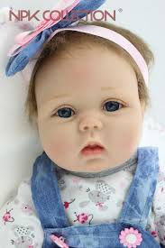 NPKCOLLECTION <b>55CM</b> Reborn Baby <b>Doll Lifelike</b> Soft Silicone ...