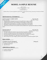 sample model resumes   template   templatesample model resumes