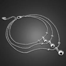 Fashion contracted <b>925</b> sterling <b>silver women anklets</b>.Solid <b>silver</b> ...