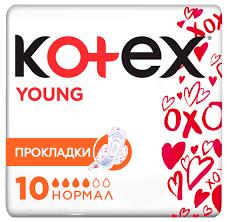 Купить <b>Kotex прокладки Young Normal</b> 10 шт. по низкой цене с ...