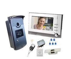 <b>YobangSecurity Video Intercom</b> 7Inch Video Door Phone Doorbell ...