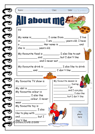 1000+ ideas about All About Me Worksheet on Pinterest | All About ...all about me printable worksheets - Google Search