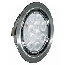 <b>REPLIS</b>-<b>1 LED светильник врезной</b> круглый, хром, 12V, теплый ...