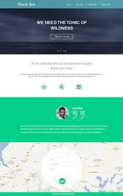 corporate and business web templates psd flat style business template psd