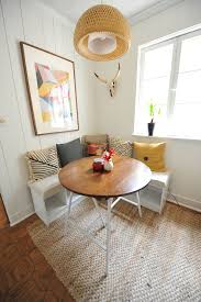 cute small kitchen breakfast nook white diy breakfast nook with white desert modern decor geometric art small