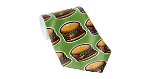 <b>I Love Burgers</b>! Neck Tie   Zazzle.com