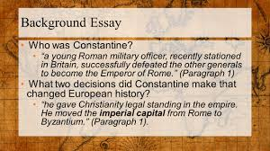 accelerated world history warm up  background essay who was constantine