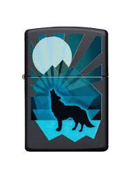 <b>Зажигалка Wolf</b> and Moon с покрытием Black Matte <b>Zippo</b> 8632873 ...
