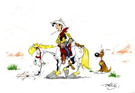 Image result for Lucky luke, Jolly Jumper and Rantanplan