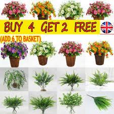Outdoor Simulation <b>Fake</b> Flower <b>Silk</b> Bouquet False <b>Plants Artificial</b> ...