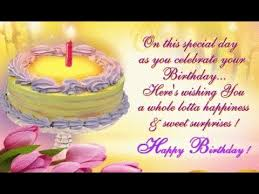 Birthday messages,Happy Birthday Wishes - YouTube via Relatably.com