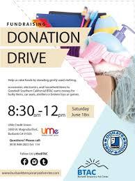 ume credit union sponsors btac goodwill donation drive btac donation drive flyer final portrait