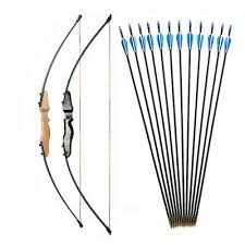 30/<b>40LBS Straight Bow</b> Split 51 Inches Entry Bow With Arrows For ...