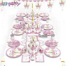 <b>Unicorn Party Disposable</b> Tableware Birthday Party Baby Shower ...