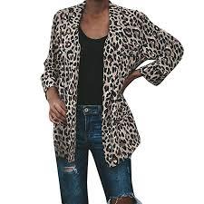 Sufeng <b>Fashion</b> Women Warm <b>Vintage</b> Animal <b>Leopard Print</b> Faux ...