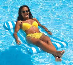 <b>striped</b> non & <b>inflatable swimming pool float</b> mattress lounge beach raft