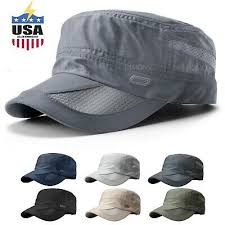 <b>Men's Classic Army</b> Summer <b>Military</b> Cap Hat Cadet Patrol Style ...
