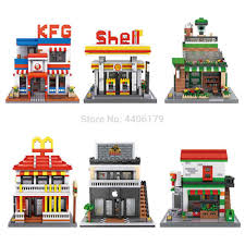 <b>hot city creators</b> Street view McDonald with led light Building Blocks ...