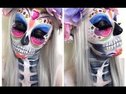 day of the dead makeup tutorial erfly design
