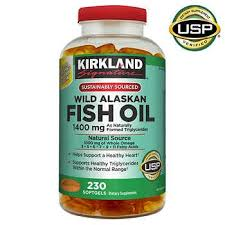 Kirkland Signature <b>Wild Alaskan Fish Oil</b> 1400 mg., 230 Softgels