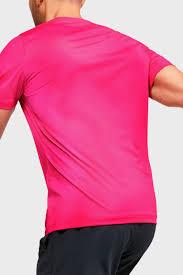 Мужская розовая спортивная <b>футболка UA HG</b> Rush Fitted SS ...