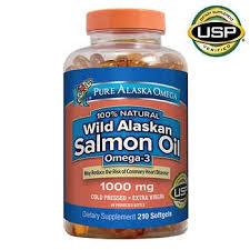Pure <b>Alaska</b> Omega <b>Wild Salmon</b> Oil 1000 mg., 210 Softgels