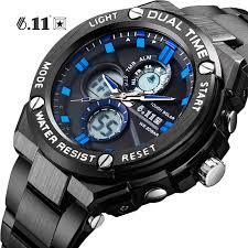 6.11 Mens Fashion Full Steel Led <b>Digital Watch Men</b> Multi function ...