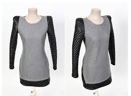 <b>Casual Style Scoop Neck</b> Splicing Shoulder Pad Zipper Long ...