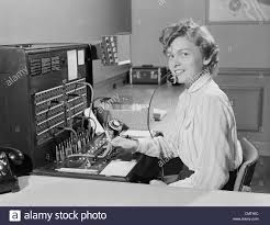 telephone switchboard stock photos telephone switchboard stock 1950s smiling w office telephone switchboard operator stock image